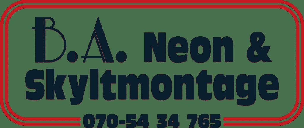 Ba Neon & Skyltmontage AB Logotype